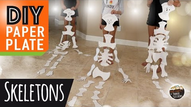 Easy DIY Halloween Paper Craft | How to Make Paper Plate Skeleton