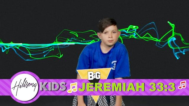 PRAYER | Big Word Jeremiah 33:3 (Actions & Music Video)