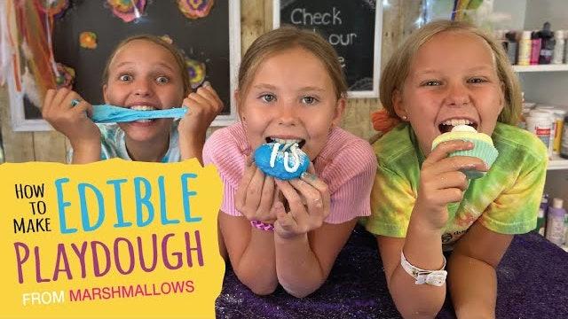 Make Edible Play-Dough using Marshmallows | Homemade DIY Recipe for Kids