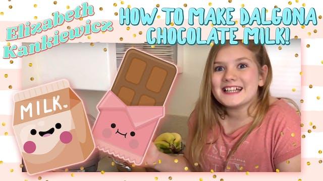 How to Make Dalgona Chocolate Milk!