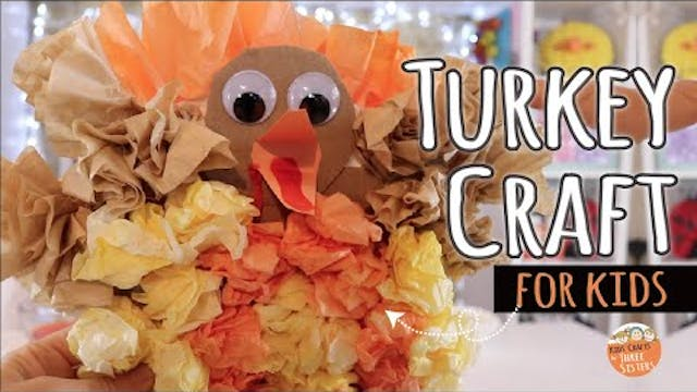 Easy Turkey Craft for Kids | Thanksgi...