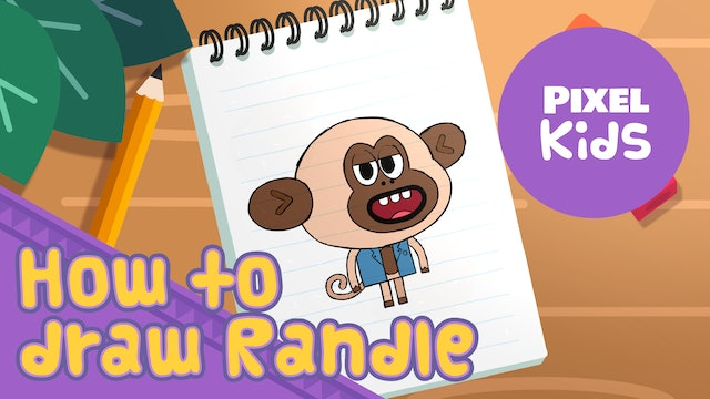 Draw with Rhino | Monkey Randle - Learn to Draw for Kids