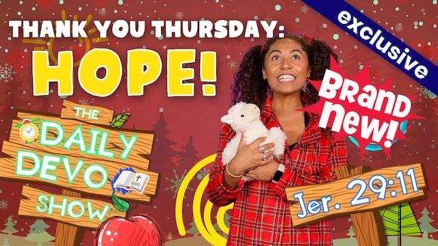 #54 Thank You Thursday: Hope!