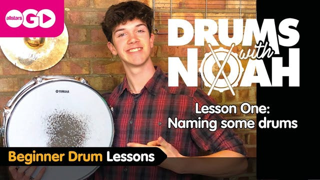 Drums With Noah | Lesson One | Naming...