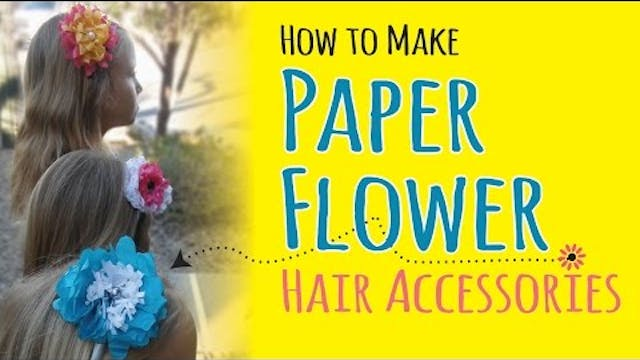How to Make Tissue Paper Flower Headb...