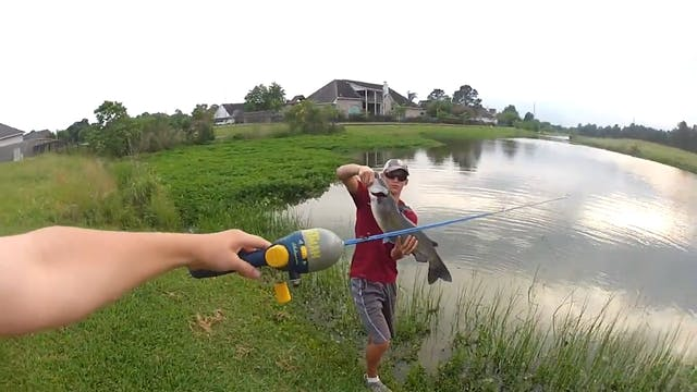 Fishing for Big Catfish on a Small Pole