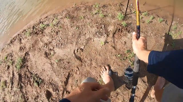 Reel Broken by Big Alligator Gar!