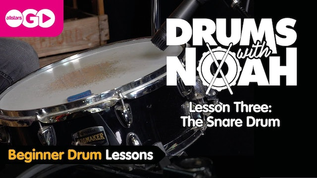 Drums With Noah | Lesson Three | The Snare Drum