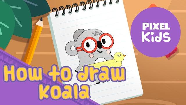Draw with Rhino | Koala - Learn to Draw for Kids