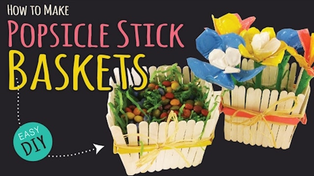 How to Make a Popsicle Stick Basket  | Easy Party DIY