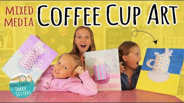 Easy Kids Mixed Media Project - Coffee Cup Art