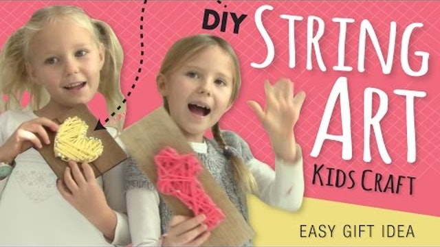 Easy DIY String Art | Room Decor | Kids Crafts by Three Sisters | Gifts