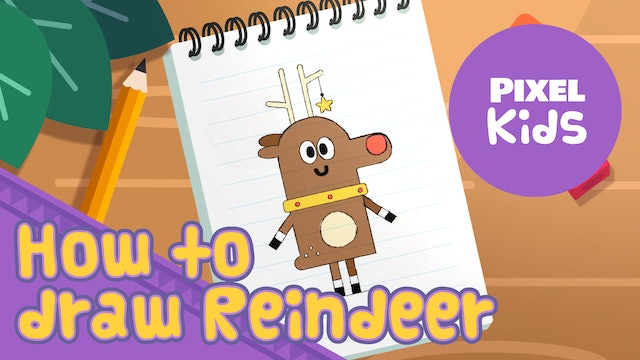 Draw with Rhino | Draw Reindeer - Learn to Draw for Kids