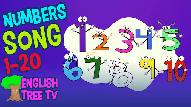 Numbers Song 1-20  Counting, Adding, Subtracting For Kids