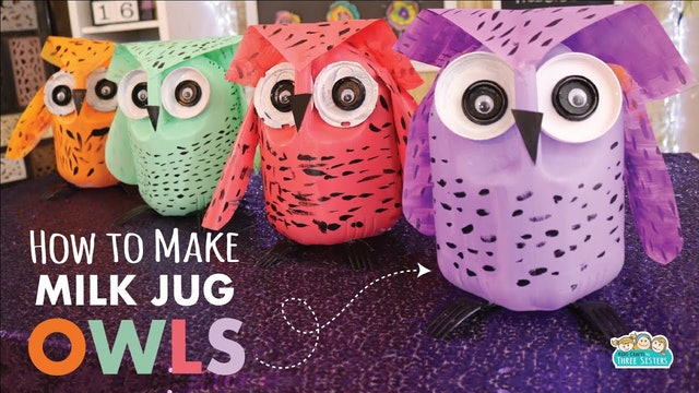 Milk Jug Owl Craft | Earth Day Kids Crafts | Recycle Craft