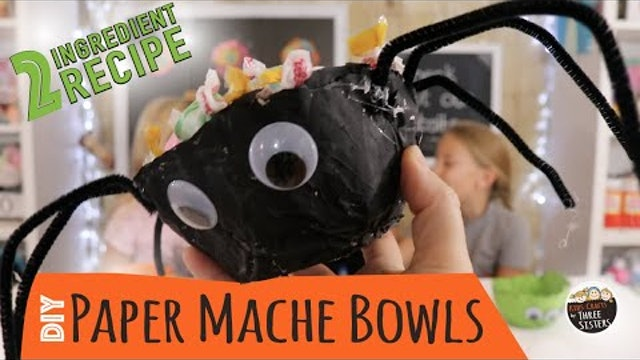 How to Make Paper Mache Bowls with Newspaper  |  Easy Halloween Craft for Kids