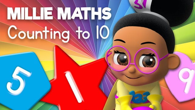 Learn to Count Using Numbers, Shapes and Colors with Millie Maths