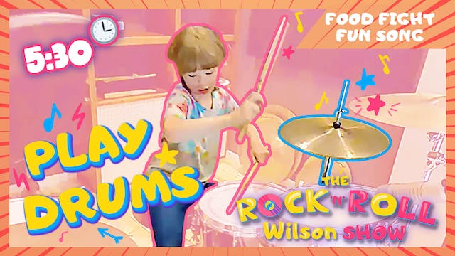 Learn to Play Food Fight Fun - Drums