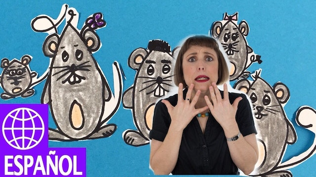 Spanish songs for kids - Cinco Ratoncitos by Alina Celeste