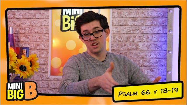 Bible Devotions | Psalm 66v18-19