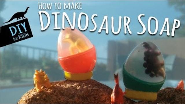How to Make DIY Dinosaur Soap Using Plastic Eggs | Soap Making for Kids