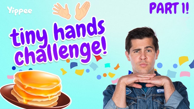 PANCAKE ART CHALLENGE! With Tiny Hands (Part 1)