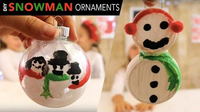 2 Easy Snowman Ornaments for Kids  |  DIY Christmas Craft