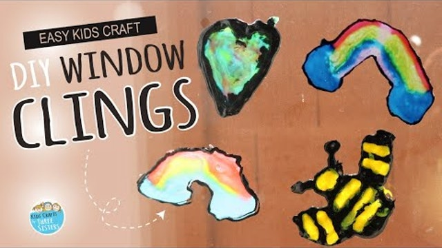 How to Make DIY Window Clings | Easy Craft for Kids |