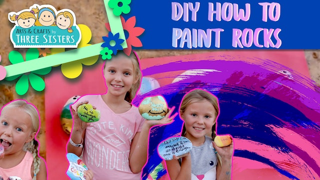 DIY How to Paint Rocks | The Kindness Rocks Project | Easy Kids Craft