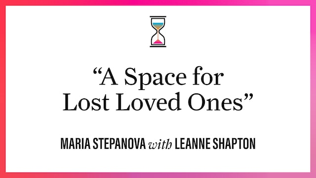 """""""A Space for Lost Loved Ones"""""""