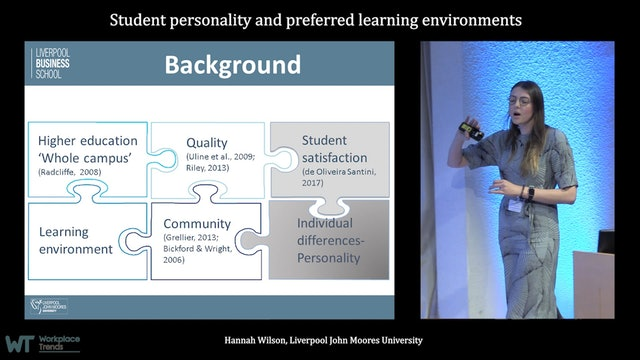 3.8 Student personality and preferred learning environments