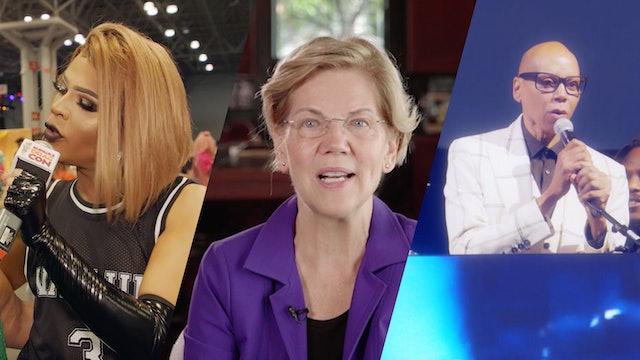 Can't Miss Moments w/ RuPaul, Vanjie, & Elizabeth Warren: RuPaul's DragCon NYC