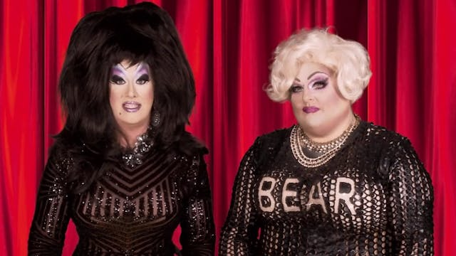 Peaches Christ and Lady Bear