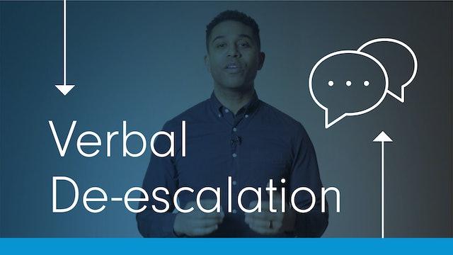 Verbal De-Escalation