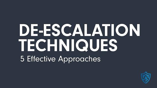 De-Escalation Techniques - 5 Effective Approaches (5:32)