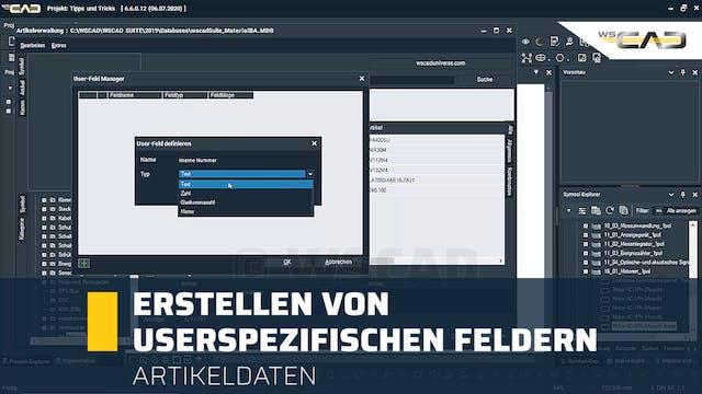 Erstellen von userspezifischen Feldern