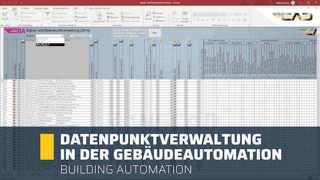 Datenpunktverwaltung in der Gebäudeautomation