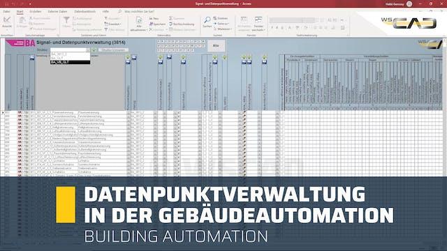 Datenpunktverwaltung in der Gebäudeau...
