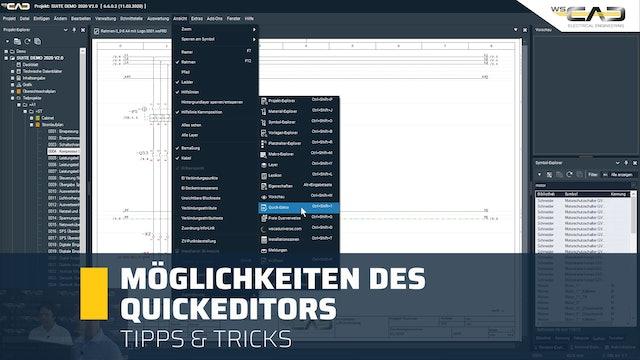 Möglichkeiten des Quickeditors