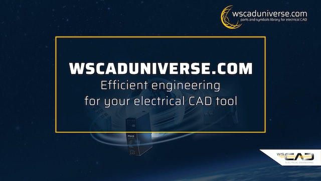 wscaduniverse.com – Efficient engineering for your electrical CAD tool