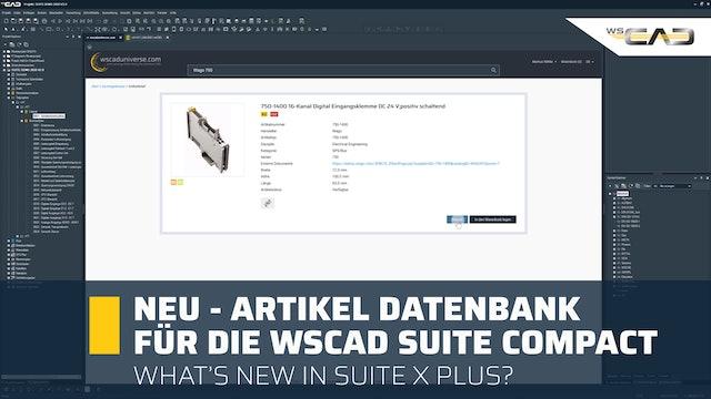 Service Pack 1 Teil 4: NEU - Artikeldatenbank für die WSCAD SUITE Compact