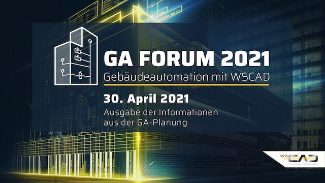 GA Forum 2021 – Gebäudeautomation mit WSCAD Freitag
