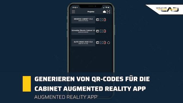 Generieren von QR-Codes für die Cabinet Augmented Reality App
