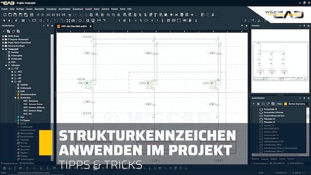 Strukturkennzeichen anwenden im Projekt