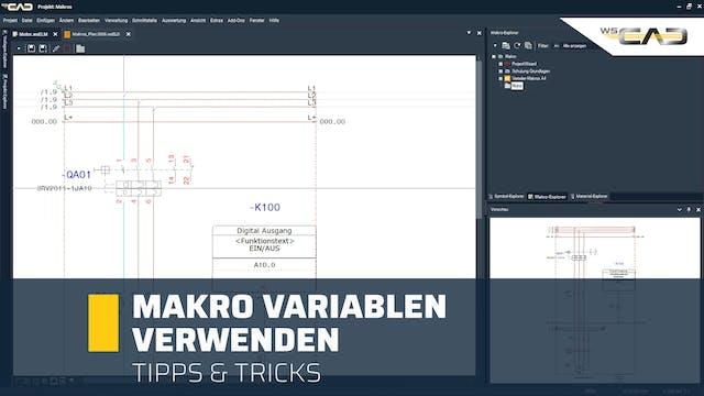 Makro Variablen verwenden