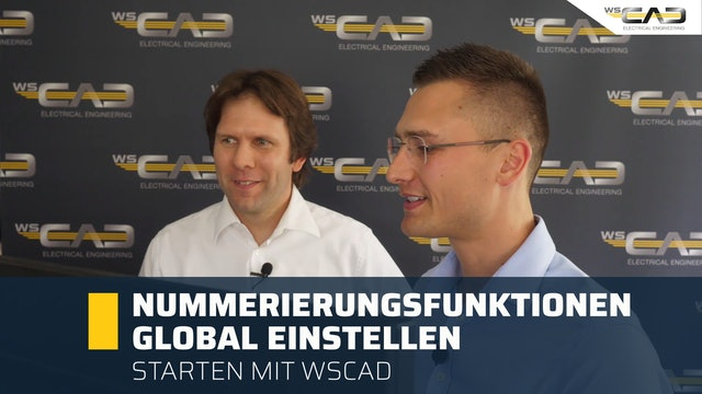 Nummerierungsfunktionen global einstellen