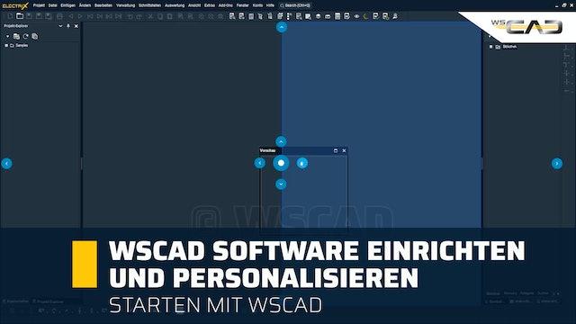 WSCAD Software einrichten und personalisieren
