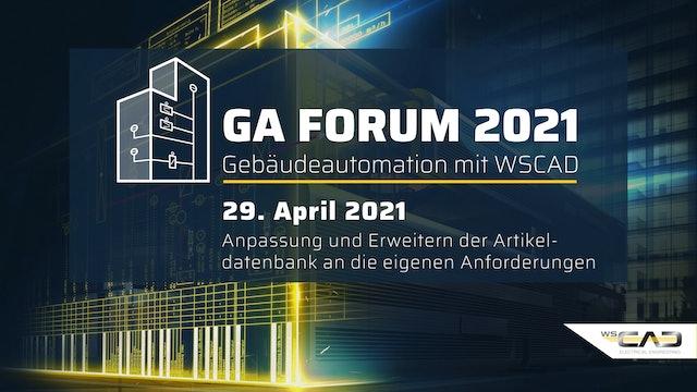 GA Forum 2021 – Gebäudeautomation mit WSCAD Donnerstag