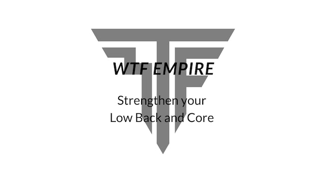 Strengthen Your Low Back and Core