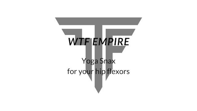 Yoga Snax for the Hip Flexors